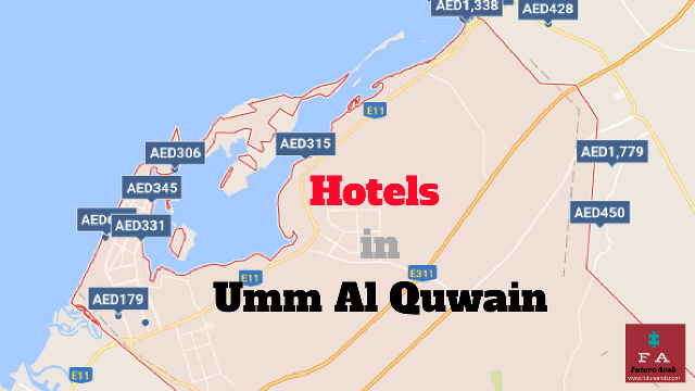 Al Quwain Map Location For Airports Tourism And Important Places